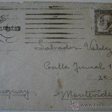 Sellos: ESPAÑA GUERRA CIVIL SOBRE CON SELLO POSTAL REPUBLICA ESPAÑOLA BARCELONA DIRIGIDO A MONTEVIDEO . Lote 17725659