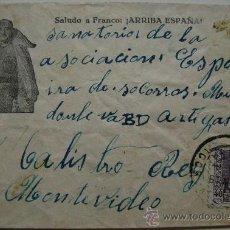 Sellos: ESPAÑA GUERRA CIVIL SOBRE CENSURA MILITAR LA CORUÑA DIRIGIDO A MONTEVIDEO URUGUAY . Lote 17725753