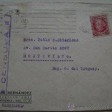 Sellos: ESPAÑA GUERRA CIVIL SOBRE CENSURA MILITAR REPUBLICA ESPAÑOLA BARCELONA DIRIGIDO A MONTEVIDEO . Lote 17726091