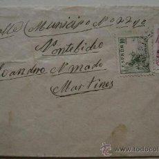 Sellos: ESPAÑA GUERRA CIVIL SOBRE CENSURA MILITAR LA CORUÑA DIRIGIDO A MONTEVIDEO URUGUAY . Lote 17743465