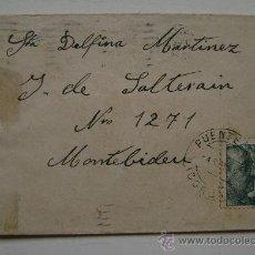 Sellos: ESPAÑA GUERRA CIVIL SOBRE CENSURA MILITAR LA CORUÑA DIRIGIDO A MONTEVIDEO URUGUAY . Lote 17743596