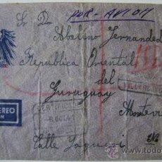 Sellos - SOBRE CIRCULADO CORREO AEREO VILLARCAYO CASTILLA Y LEON DIRIGIDO A MONTEVIDEO URUGUAY - 17797827