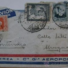 Sellos: SOBRE CIRCULADO CORREO AEREO CIE GLE AEROPOSTALE DE REPUBLICA ESPAÑOLA A MONTEVIDEO URUGUAY. Lote 17797909