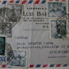 Sellos: SOBRE CIRCULADO CORREO AEREO DE MADRID A MONTEVIDEO URUGUAY. Lote 17797980