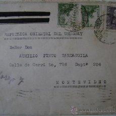 Sellos: SOBRE CIRCULADO DE ESPAÑA A MONTEVIDEO URUGUAY. Lote 17798163