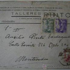 Sellos: SOBRE CIRCULADO DE ESPAÑA A MONTEVIDEO URUGUAY. Lote 17798243