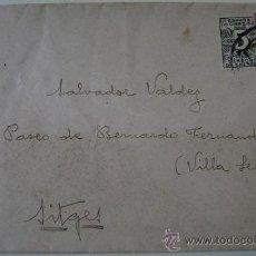 Sellos: SOBRE CIRCULADO CORREO DE ESPAÑA DIRIGIDO A SITGES. Lote 17798386