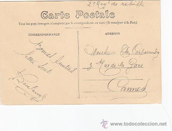 Sellos: MARRUECOS ESPAÑOL: BONITA TARJETA CIRCULADA 1912 A FRANCIA. MARCA OVALADA COMO MATASELLOS. RARA ASI. - Foto 2 - 22128912