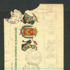 Sellos: SOBRE CIRCULADO DE LA JUNTA CENTRAL DE COMPARSAS DE MOROS Y CRISTIANOS. ELDA. ALICANTE. AÑO 1974. Lote 27415871