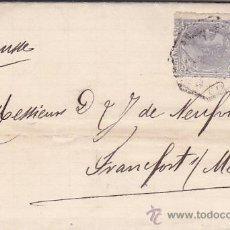 Sellos: ALFONSO XII (EDIFIL 204) EN CARTA ENTERA CIRCULADA 1885 DE MADRID A ALEMANIA. MATASELLOS ¿AMBULANTE?. Lote 26689465