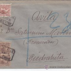 Sellos: ALFONSO XIII PELON (15 Y 10 CTS) EN CARTA 1899 CORREO CERTIFICADO DE MADRID A PIEDRAHITA (AVILA).. Lote 23447161