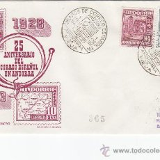 Sellos: ANDORRA ESPAÑOLA CARTA CIRCULADA 1953 RARO FRANQUEO MIXTO (PRO TUBERCULOSOS). LLEGADA.. Lote 26710122