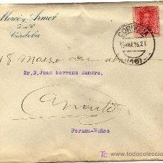 Sellos: MAGNIFICO MATASELLO DE CARTUCHO ABIERTO (SOBRE CARTA) - CORDOBA - 19-MAR-26. Lote 18956824