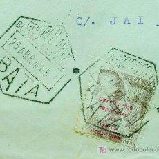 Sellos: CARTA CIRCULADA 1949, GUINEA ESPAÑOLA, BATA A VALENCIA. Lote 19292931
