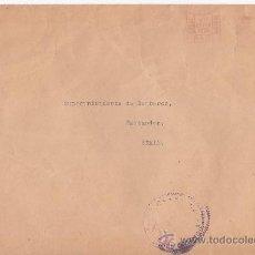 Sellos: FRANQUEO MECANICO TINTA ROJA CARTA CIRCULADA 1939 INGLATERRA A SANTANDER. CENSURA ESPAÑOLA RARA GMPM. Lote 26751481