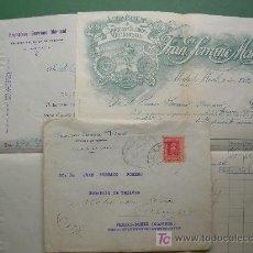 Sellos: CARTA CIRCULADA 1926 CON FACTURA Y RECIBO FABRICA TEJIDOS FRAN. SERRANO MARMOL ALCALA LA REAL. JAEN. Lote 26951731