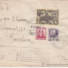 Sellos: VIÑETA PI DE LLOBREGAT EN CARTA CIRCULADA 1937 DE SAN JUAN DESPI A BARCELONA. LLEGADA. MUY RARA.. Lote 23952298