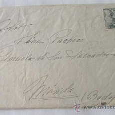 Sellos: CARTA DE UN MILITAR 1941 SIRUELA BADAJOZ. Lote 20877075