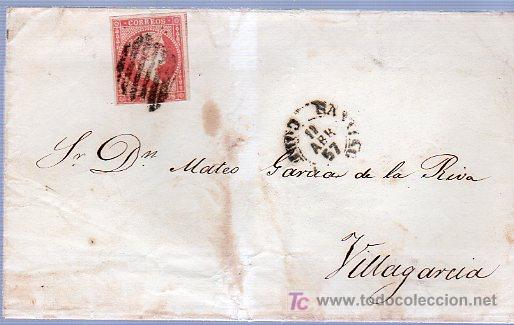 CARTA DIRIGIDA DE CALDAS DE REY A VILLAGARCIA. (Sellos - Historia Postal - Sello Español - Sobres Circulados)