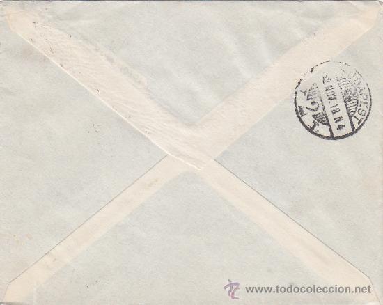 Sellos: ESTACION M.Z.A: RARO MATASELLOS EN CARTA CIRCULADA 1932 DE BARCELONA A BUDAPEST (HUNGRIA). LLEGADA. - Foto 2 - 23708706