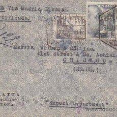 Sellos: EL CID EN CARTA CIRCULADA 1940 POR CORREO AEREO CERTIFICADO DE BARCELONA A CHICAGO. DOBLE CENSURA.. Lote 27134622