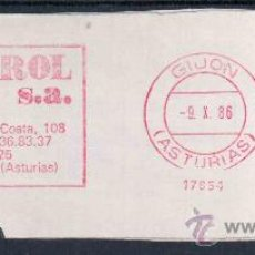 Sellos: GIJON ASTURIAS FRANQUEO MECANICO OBREROL SA. Lote 22123384
