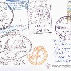 Selos: PRIMERA EXPEDICION ESPAÑOLA A LA ANTARTIDA CC EN LA GOLETA IDUS DE MARZO LLEVA MARCAS DE LA EXPEDICI. Lote 27060058