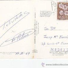 Sellos: ANDORRA ESPAÑOLA TARJETA POSTAL CIRCULADA 1969 DE ANDORRA LA VIEJA A MADRID. MPM.. Lote 22930022