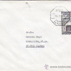 Sellos: TRENES FERROCARRIL MATASELLOS AMBULANTE FERROL-BETANZOS CARTA CIRCULADA A MADRID. BONITA Y RARA. MPM. Lote 23490466