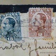 Sellos: SOBRE, CIRCULADO, DE LUTO, VALENCIA, SIN REMITE, 8 X 12 CM, 1930 S. Lote 24995553
