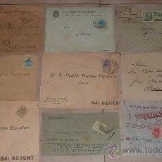 Sellos: LOTE DE 60 SOBRES CIRCULADOS ALFONSINOS, CON SUS SELLOS CORRESPONDIENTES. ZONA MANRESA Y BARCELONA.. Lote 26508569