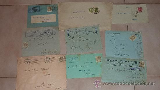Sellos: Lote de 60 sobres circulados alfonsinos, con sus sellos correspondientes. Zona manresa y barcelona. - Foto 2 - 26508569