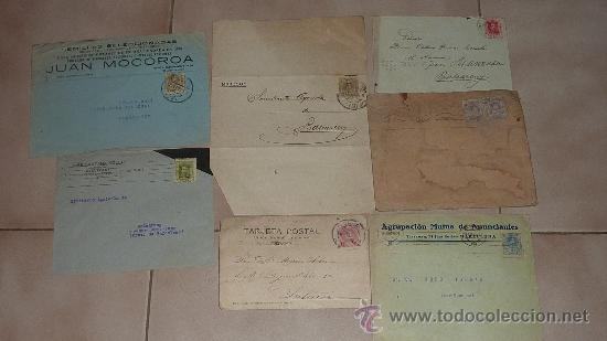 Sellos: Lote de 60 sobres circulados alfonsinos, con sus sellos correspondientes. Zona manresa y barcelona. - Foto 4 - 26508569