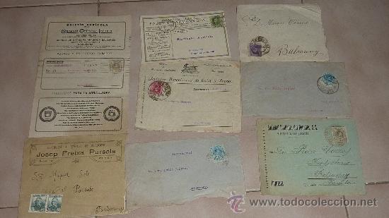 Sellos: Lote de 60 sobres circulados alfonsinos, con sus sellos correspondientes. Zona manresa y barcelona. - Foto 5 - 26508569