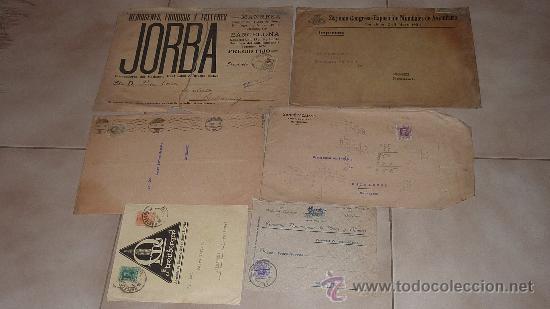 Sellos: Lote de 60 sobres circulados alfonsinos, con sus sellos correspondientes. Zona manresa y barcelona. - Foto 7 - 26508569