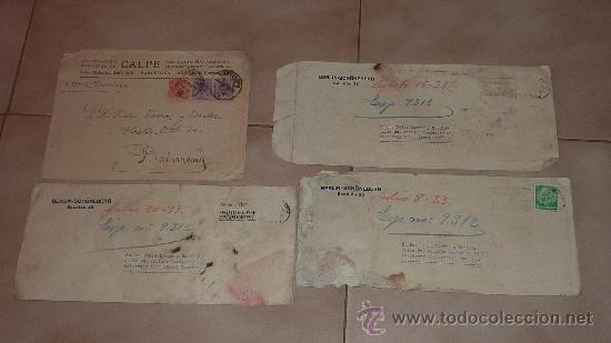 Sellos: Lote de 60 sobres circulados alfonsinos, con sus sellos correspondientes. Zona manresa y barcelona. - Foto 8 - 26508569
