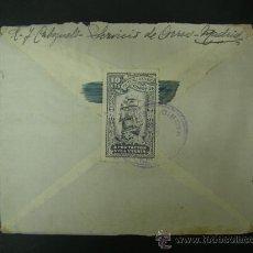 Francobolli: SOBRE CIRCULADO CON SELLO 10CTS. MUTUALIDAD DE CORREOS Y MATASELLOS AÑO 1946, VER FOTOS. Lote 25825323