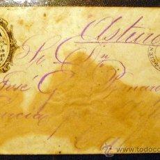 Sellos: CUBA. CARTA CIRCULADA 1878 DE CIENFUEGOS A CALAVERO (ASTURIAS). RARA. Lote 27156942