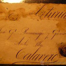 Sellos: CUBA (1882) CARTA CIRCULADA DE LA HABANA A CALAVERO (ASTURIAS). MUY RARA. Lote 27156943
