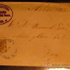 Sellos: ISLA DE CUBA.(1884) CARTA CIRCULADA DE REMEDIOS A TORRE ILLAS (ASTURIAS). MUY RARA. Lote 27156945