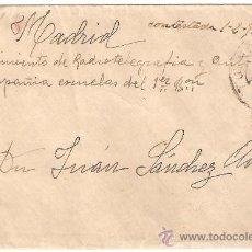 Sellos: SOBRE TOLEDO A MADRID.REGIMIENTO DE RADIOTELEGRAFIA Y AUTOMOVILISMO.CIA ESCUELAS 1 BATALLON .1928. Lote 26607342