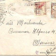 Sellos: AÑO 1951 - SOBRE CIRCULADO DE BARCELONA A MONOVAR. Lote 24708975