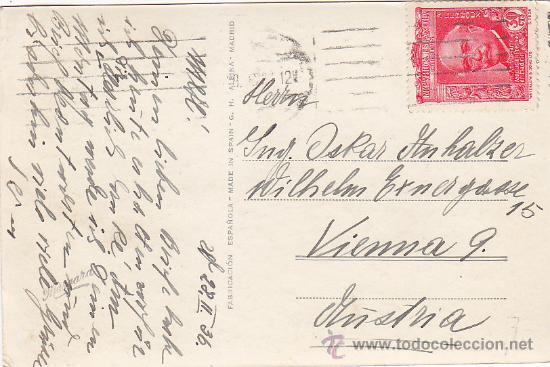 REPUBLICA ESPAÑOLA XL ANIVERSARIO ASOCIACION DE LA PRENSA (EDIFIL 702) EN TARJETA CIRCULADA A VIENA (Sellos - Historia Postal - Sello Español - Sobres Circulados)