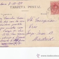 Sellos: RARO MATASELLOS ESTACION MZA BARCELONA 1919 EN TP TIBIDABO-VISTA DE MONTSERRAT CIRCULADA A MADRID.. Lote 25318403