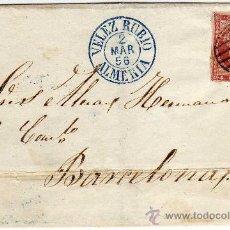 Sellos: MAGNIFICA CARTA - MATASELLO - VELEZ RUBIO (ALMERIA) - 2 MAR 56 (1856) - Y PARRILLA SOBRE SELLO. Lote 26333557
