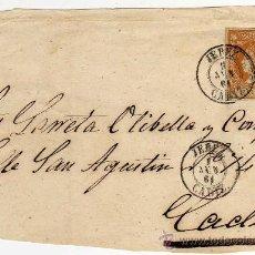 Sellos: MAGNIFICO FRONTAL CARTA - MATASELLO JEREZ (CADIZ) 1 JUN 61 (1861) - SOBRE CARTA Y SOBRE SELLO . Lote 26334122