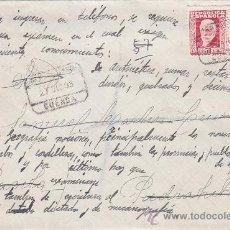 Sellos: REPUBLICA ESPAÑOLA: CARTA CERTIFICADA 1933 DE CUENCA A PIEDRAHITA (AVILA). TRANSITOS MADRID Y AVILA.. Lote 26436492