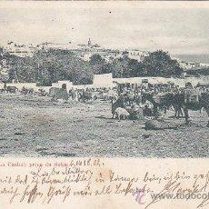 Sellos: TANGER (MARRUECOS CORREO ALEMAN): LA CASBAH DESDE EL ZOCO: BONITA POSTAL CIRCULADA 1902. RARA.. Lote 26617767