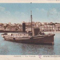 Sellos: TANGER (MARRUECOS ESPAÑOL): VISTA GENERAL EN 1933 EN POSTAL CIRCULADA A AUSTRIA.. Lote 26617933