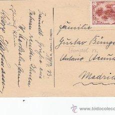 Sellos: MARRUECOS ESPAÑOL: LA ALCAZABA, INGENIEROS Y BARRIO MORO EN POSTAL 1933 DE TETUAN A MADRID. LLEGADA. Lote 26618181